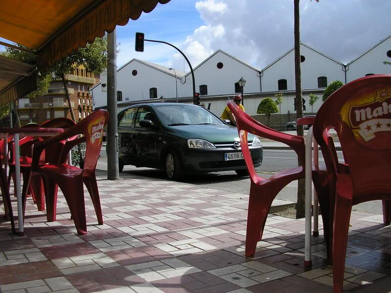 Terraza de bar tipo gincana en la Avenida, frente al parque de los monos