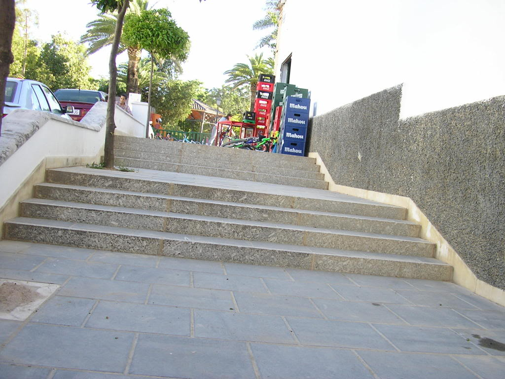 Escaleras en el Maseta