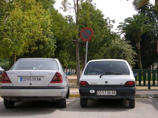 Mercedes en Paseo de Cervantes