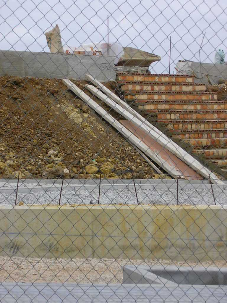 Escaleras en nueva urbanización huerta del santo